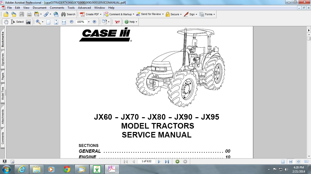 case jx 80 service manual