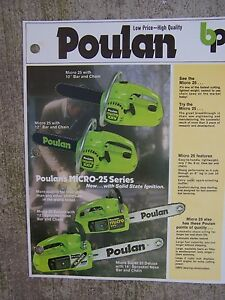 poulan micro xxv deluxe owners manual