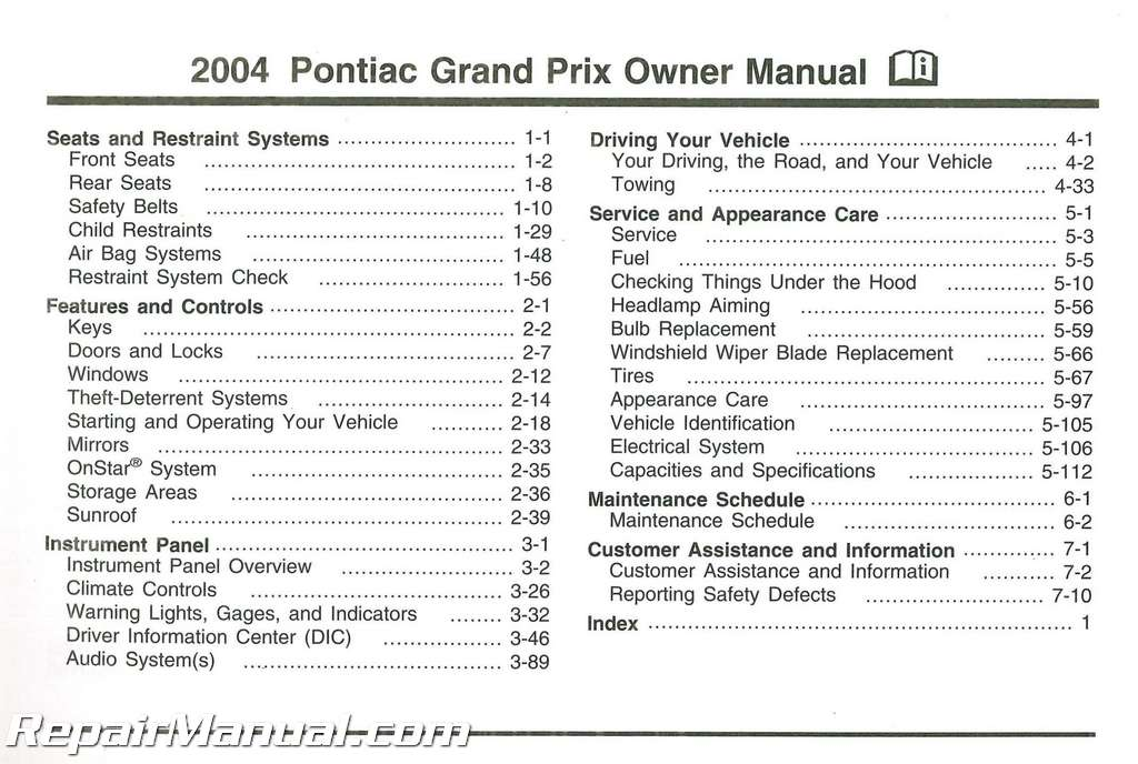 2004 saturn ion owners manual pdf