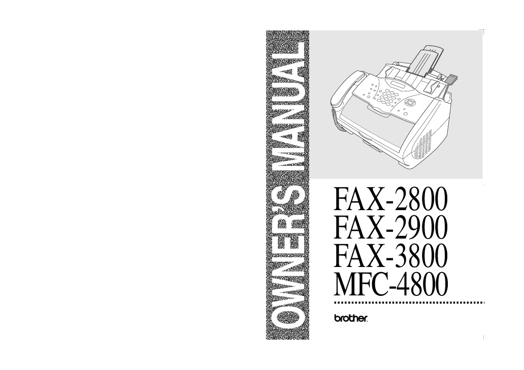brother mfc 4800 user manual