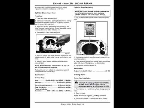john deere lx277 owners manual